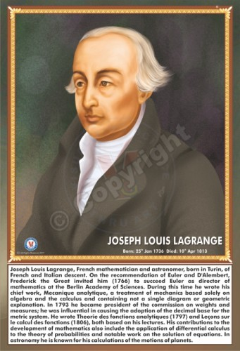 SP-83 JOSEPH LOUIS LAGRANGE