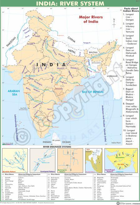 SS-11_India-Major Rivers English - CC